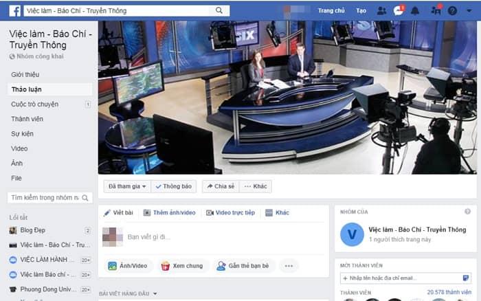Đăng tin tuyển dụng trên các hội nhóm Facebook giúp bạn tìm được nguồn ứng viên chất lượng